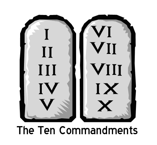 Image result for Ten Commandments graphic