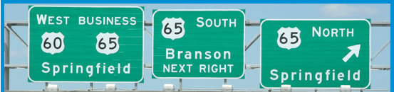 US 60/65 Interchange Signs Courtesy of MoDOT