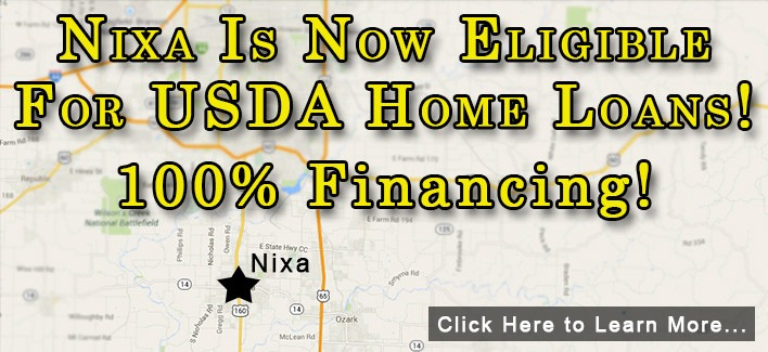 Nixa, MO Is Now Eligible For USDA Home Loans