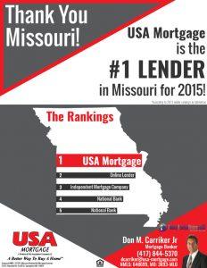 #1 Lender in Missouri for 2015